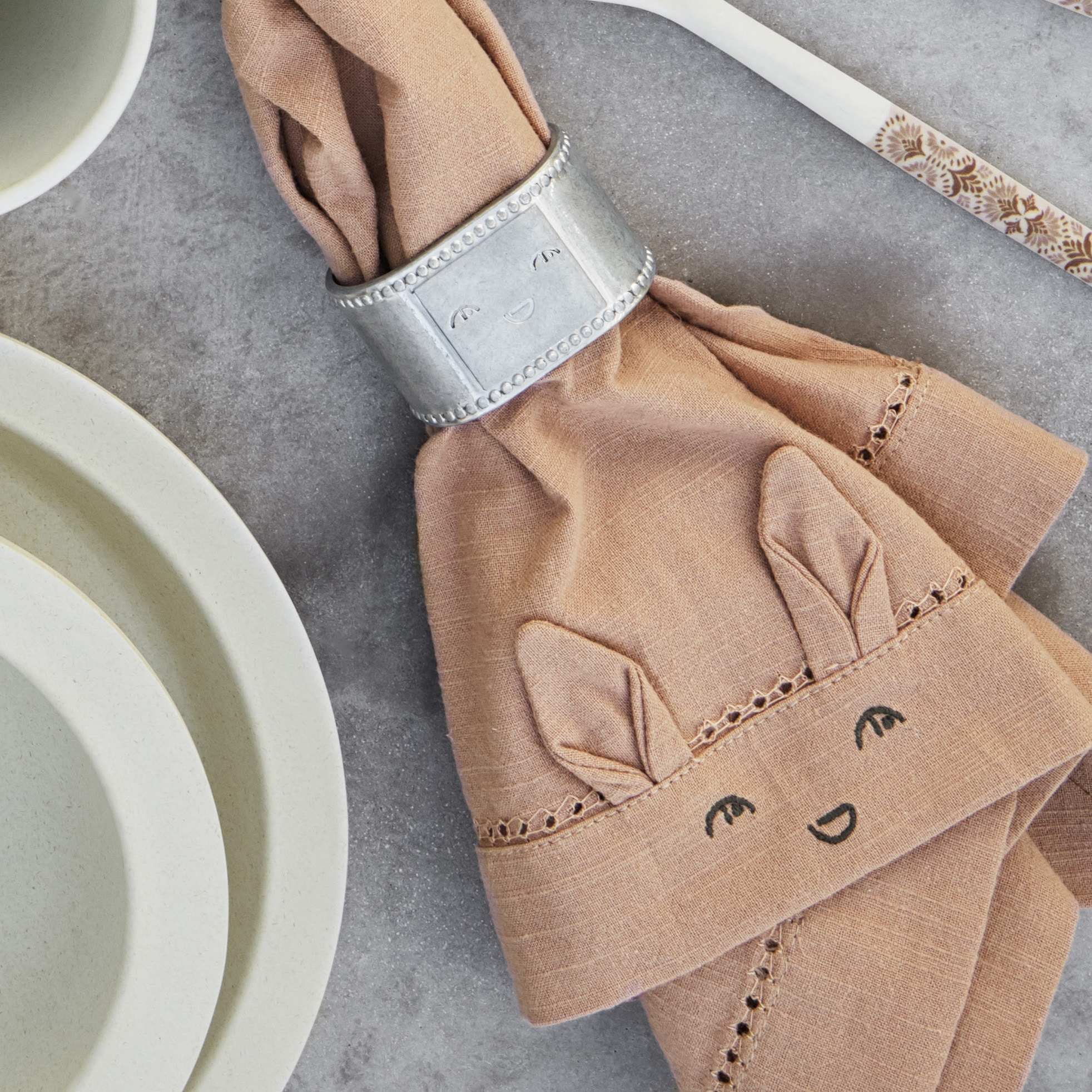 Baby Napkins 2pcs Faded Rose Burned Clay Elodie Details SS20 Lifestyle 60285101150NA 1 Web