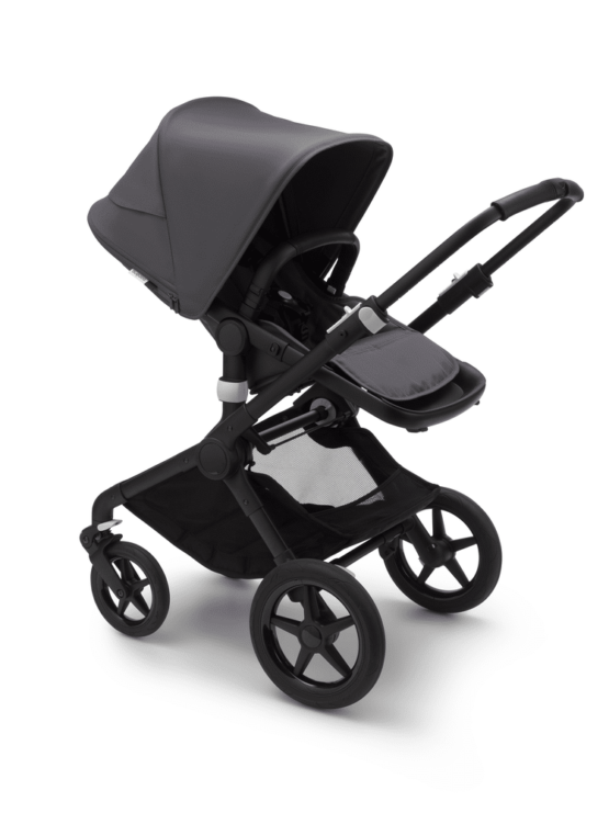 Bugaboo Fox2 Black/Steel Blue-Steel Blue παιδικό καρότσι