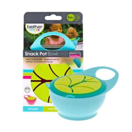 Brother Max Snack Pot Bowl Blue/Green