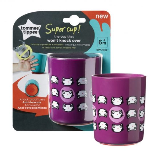 Tommee Tippee super cup 6m+ 190ml Purple