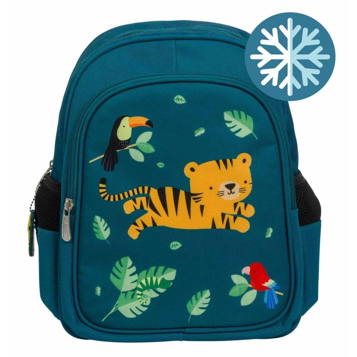 A little lovely company: Τσάντα πλάτης με Ισοθερμική θήκη 27x32x19εκ. Jungle tiger