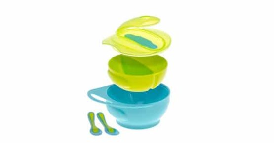 Brother max Weaning Bowl Set Blue/Green