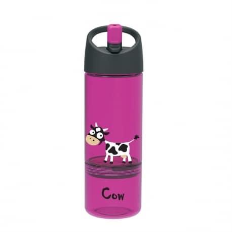 Carl Oscar Drink & Eat 2-in-1 bottle Cow Purple