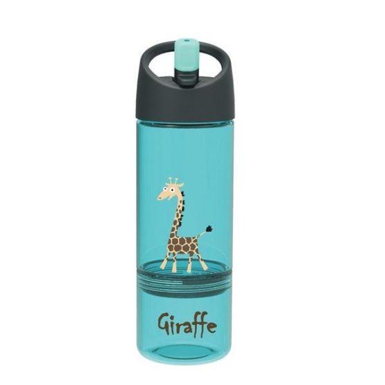 Carl Oscar Drink & Eat 2-in-1 bottle Giraffe Blue