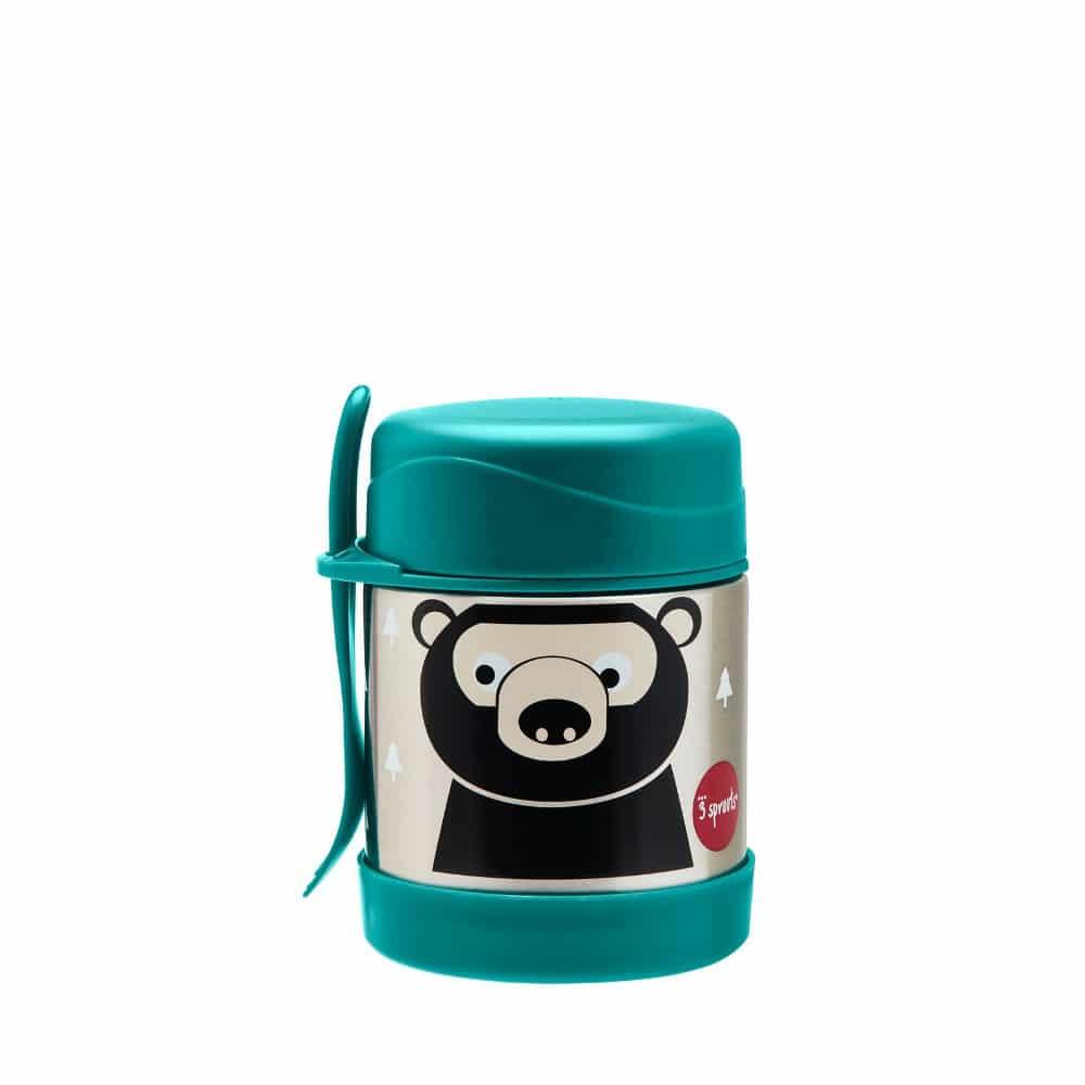 3 Sprouts ανοξείδωτο βάζο φαγητού Bear