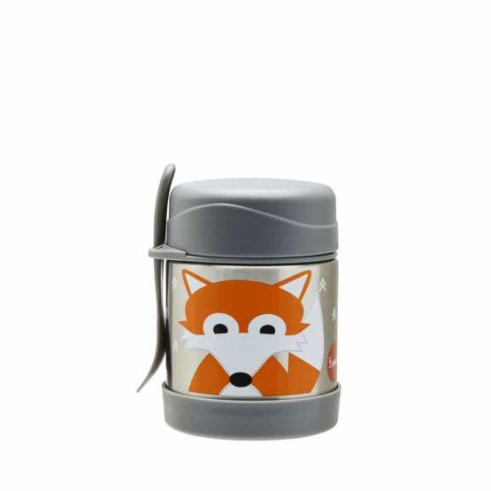3 Sprouts ανοξείδωτο βάζο φαγητού Fox