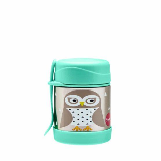 3 Sprouts ανοξείδωτο βάζο φαγητού Owl