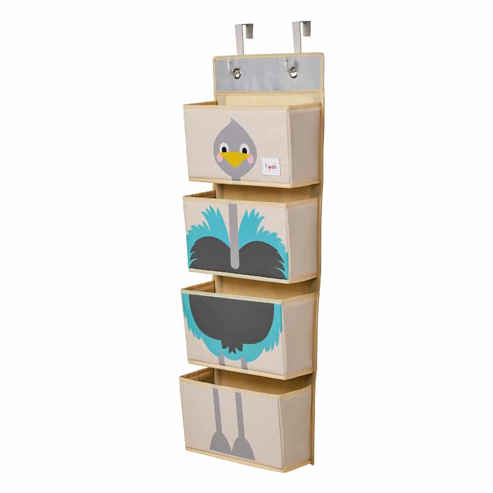 3 Sprouts Κρεμαστή θήκη για πάνες Hanging Wall Organizer Ostrich