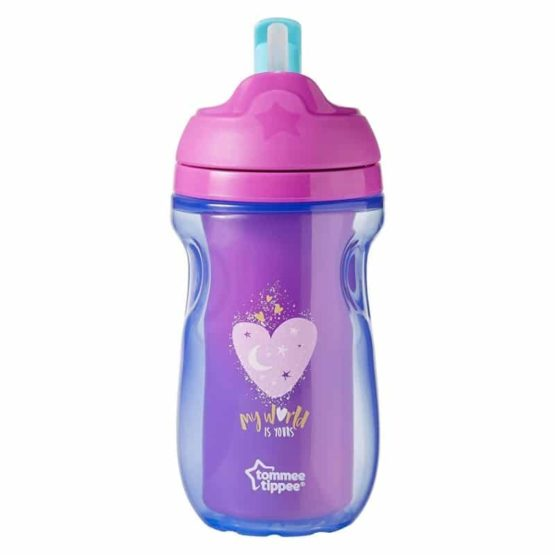 Tommee Tippee Straw Cup Insulated Straw Cup 12+ Months 260ml Purple
