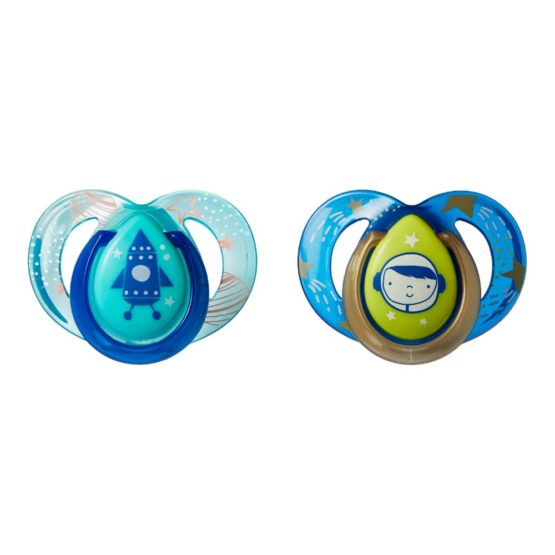 Tommee tippee® πιπίλες Night Time Orthodontic 6-18m Blue/Green