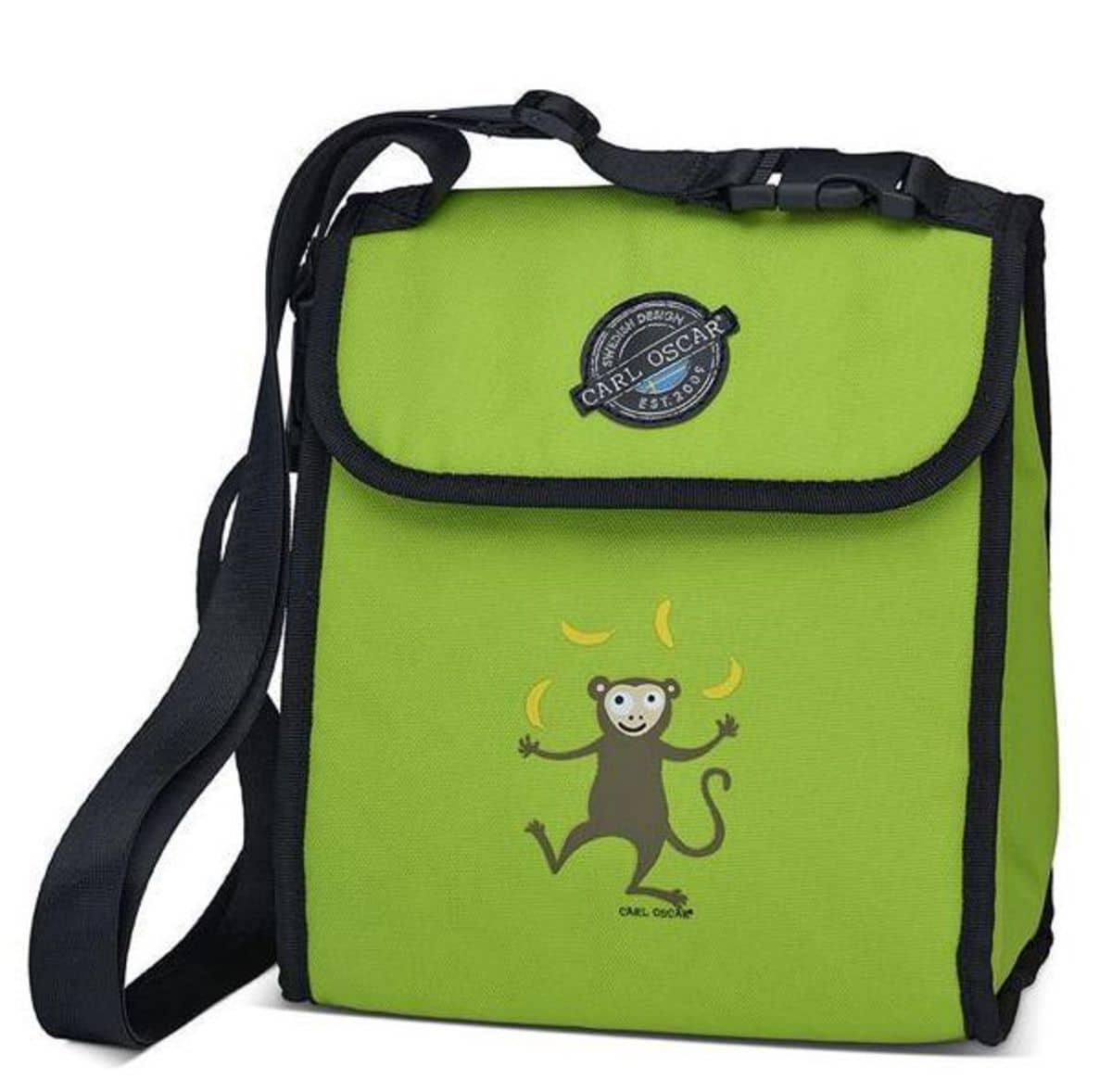 CARL OSCAR Pack n' Snack™ CoolerBag Lime Monkey