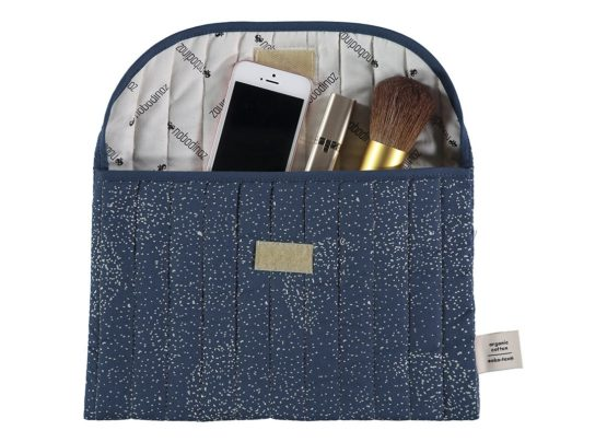Bagatelle Pouch Pochette Estuche Gold Bubble Night Blue Nobodinoz 2