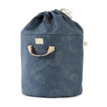 Bamboo Toy Bag Sac A Jouet Guarda Juguetes Gold Bubble Night Blue Nobodinoz 1 D572d794 D05c 4739 932a 2b6a2dd89b7b 1024x
