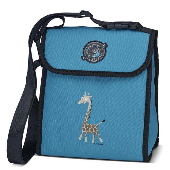 CARL OSCAR Pack n' Snack™ CoolerBag Turquoise Giraffe