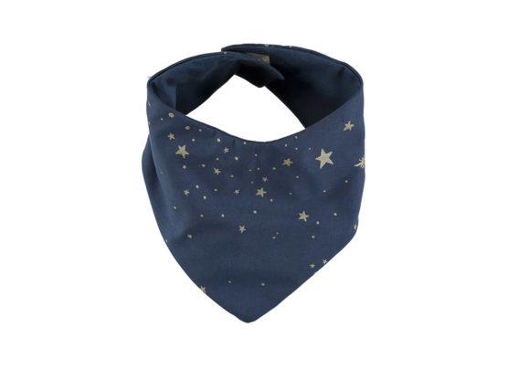 Nobodinoz. NEW ELEMENTS. Σαλιάρα-μαντήλι Lucky Gold stella/ Night blue