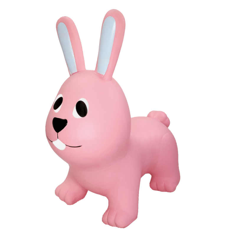 GERARDO'S TOYS. JUMPY Φουσκωτά ζωάκια. Λαγουδάκι απαλό ροζ