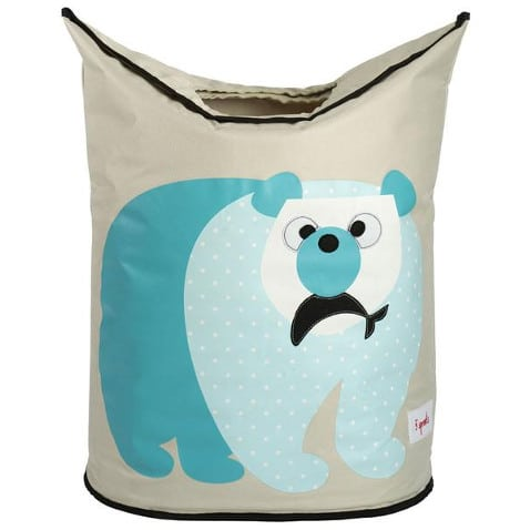 3 Sprouts Καλάθι για άπλυτα & για παιχνίδια Laundry Hamper Polar Bear