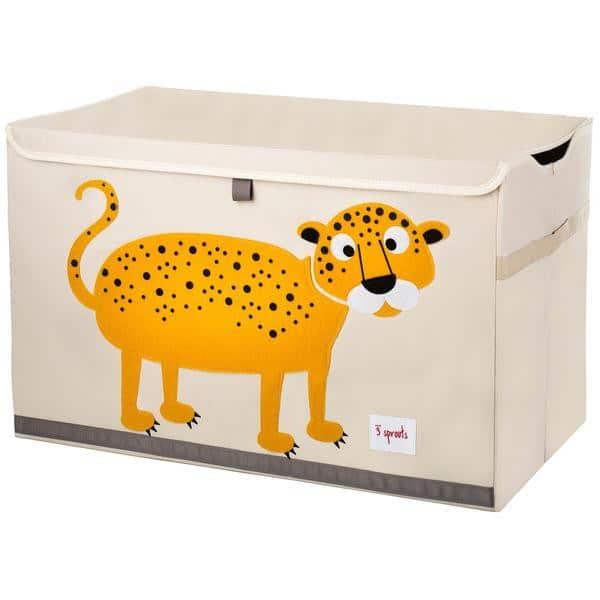 3 Sprouts Κουτί Αποθήκευσης Παιχνιδιών Toy Chest Leopard