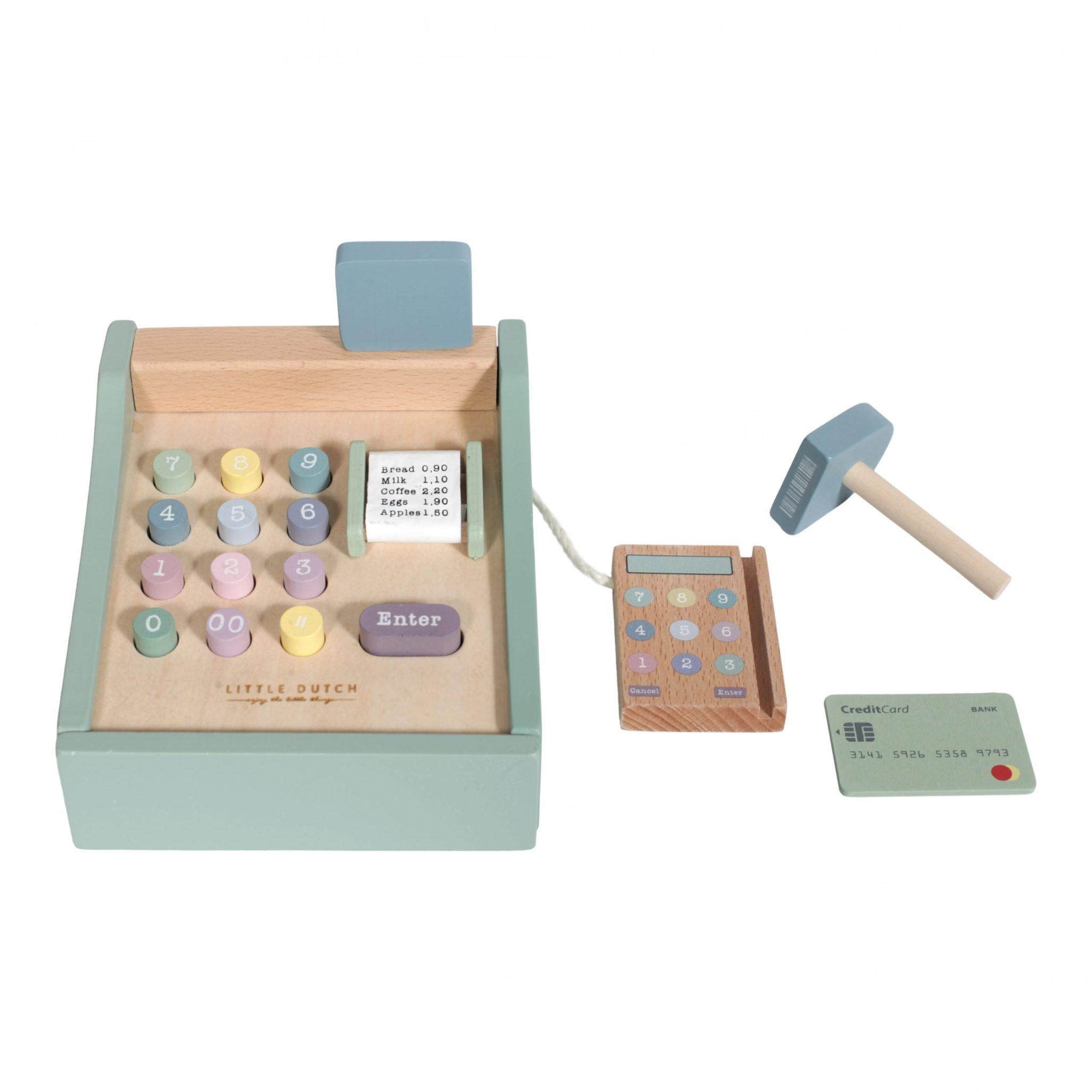 LITTLE DUTCH. Ξύλινη ταμειακή μηχανή Adventure Mint