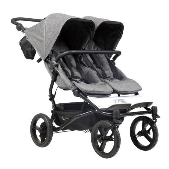 Mountain buggy® Duet Luxury Collection παιδικό καρότσι για δύο παιδιά Herringbone
