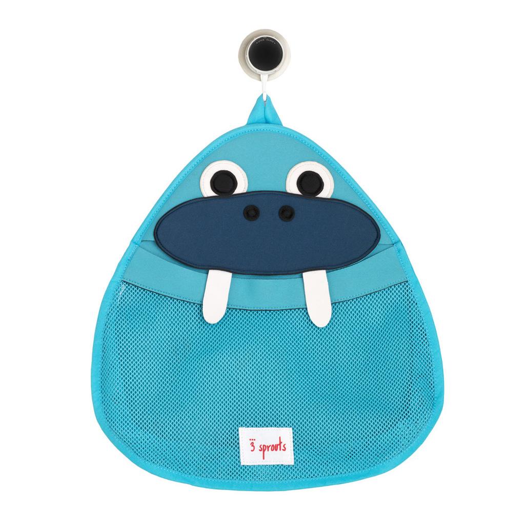 3 Sprouts Θήκη για τα παιχνίδια μπάνιου Bath storage Walrus