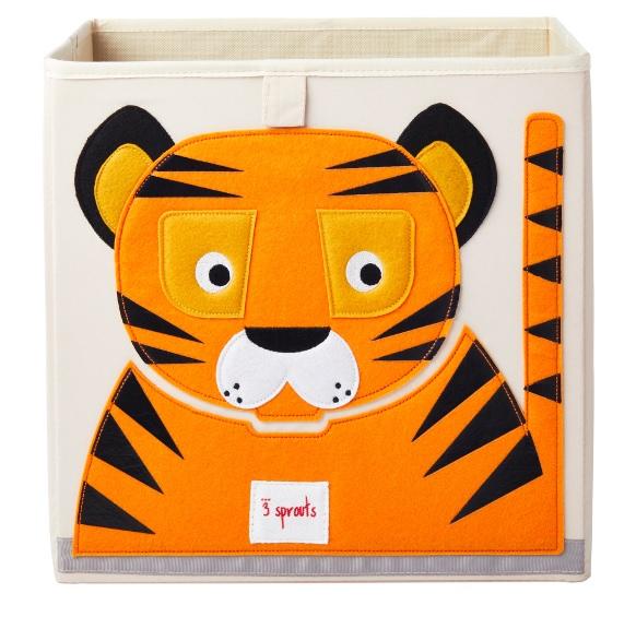 3 Sprouts Κουτί αποθήκευσης παιχνιδιών Storage Box Tiger