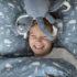 LD4804 Little Dutch Samt Kuscheltier Oktopus Rauchblau 3