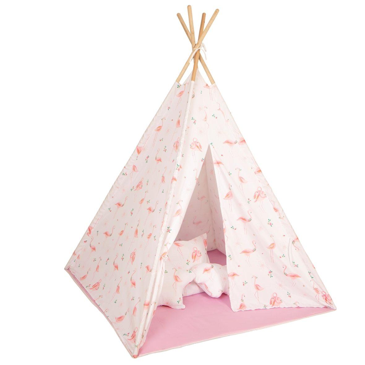 BABY ADVENTURE Σκηνή Baby Adventure Teepee Flamingo