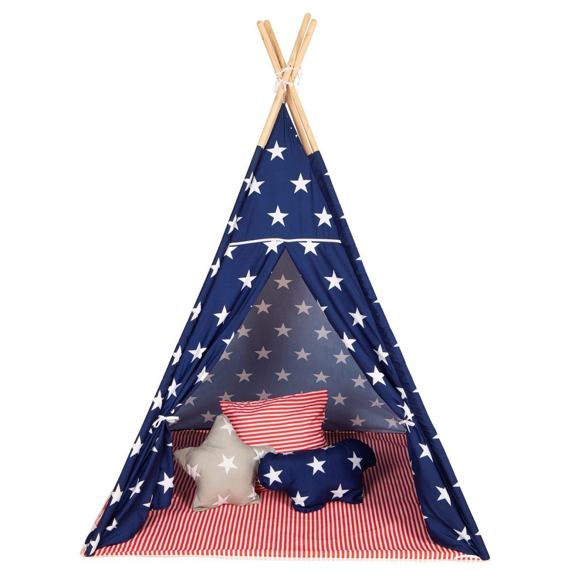 0049312 Baby Adventure Tepee Stars Stripes