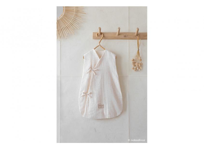 Dreamy Summer Sleeping Bag Gigoteuse Saco De Dormir Honey Sweet Dots Natural Nobodinoz 2 V