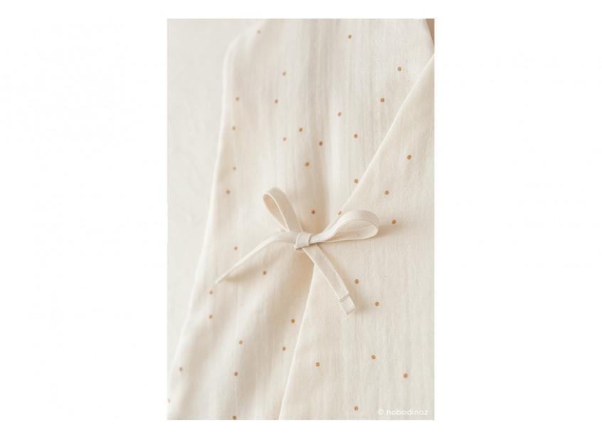 Dreamy Summer Sleeping Bag Gigoteuse Saco De Dormir Honey Sweet Dots Natural Nobodinoz 3 V