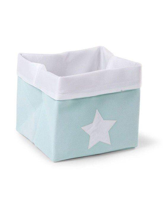 CHILDHOME Κουτί Αποθήκευσης 32*32*29 Mint White