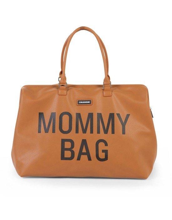 CHILDHOME Τσάντα Αλλαγής Childhome Mommy Bag Leatherlook Brown