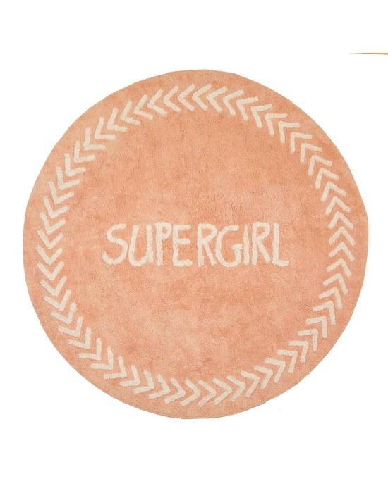 BABY ADVENTURE Χαλί Baby Adventure Pink Supergirl 150cm