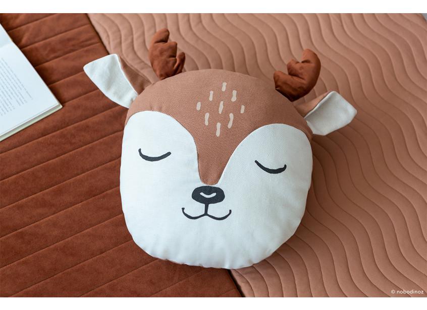 Animal Deer Cushion Sienna Brown Nobodinoz 2 8435574918260
