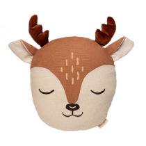 Deer Animal Cushion Sienna Brown Nobodinoz 1 8435574918260
