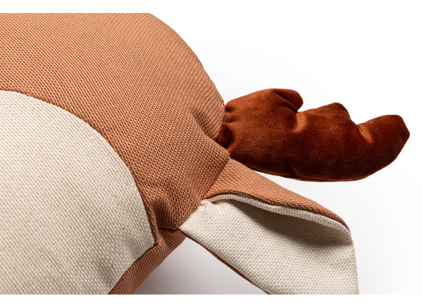 Deer Animal Cushion Sienna Brown Nobodinoz 2 8435574918260