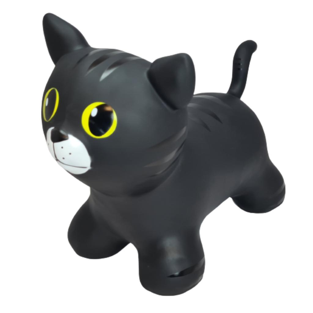 GERARDO'S TOYS. JUMPY Φουσκωτά ζωάκια. Γάτα (μαύρο)