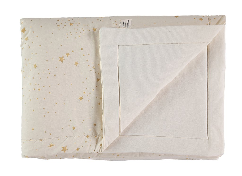 Nobodinoz NEW ELEMENTS. Κουβέρτα 70χ70 Laponia Gold stella/ Natural