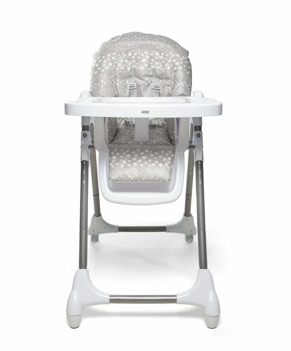 Mamas Papas Highchairs Snax Adjustable Highchair With Removable Tray Insert Grey Spot 18930511675557 1200x