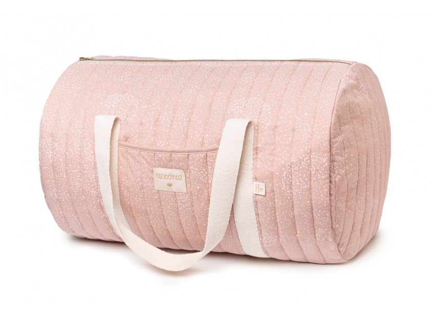 Nobodinoz NEW ELEMENTS. Τσάντα βόλτας New York White bubble/ Misty pink