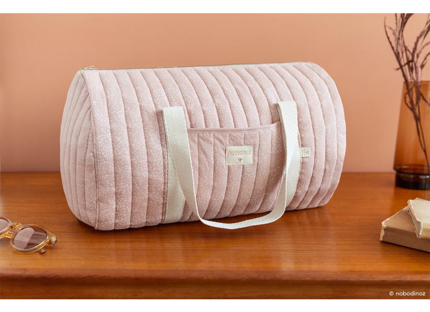 New York Weekend Bag White Bubble Misty Pink Nobodinoz 2 2000000105086