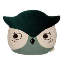 Owl Animal Cushion Eden Green Nobodinoz 1 8435574918277