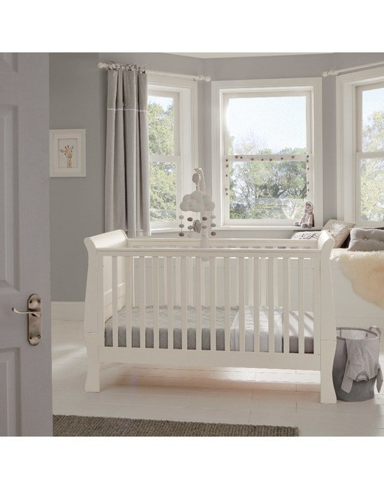 Mamas & Papas Κρεβάτι Μia Sleigh White