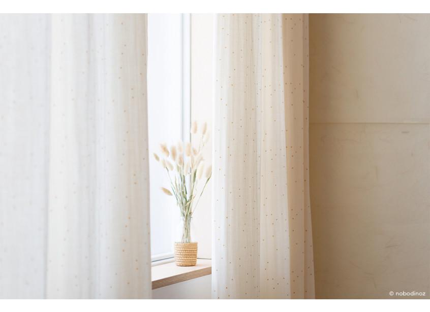Utopia Curtain Rideaux Cortina Honey Sweet Dots Natural Nobodinoz 1