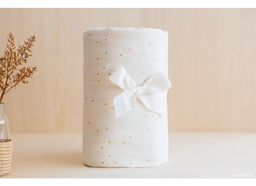 Utopia Curtain Rideaux Cortina Packaging Honey Sweet Dots Natural Nobodinoz 1