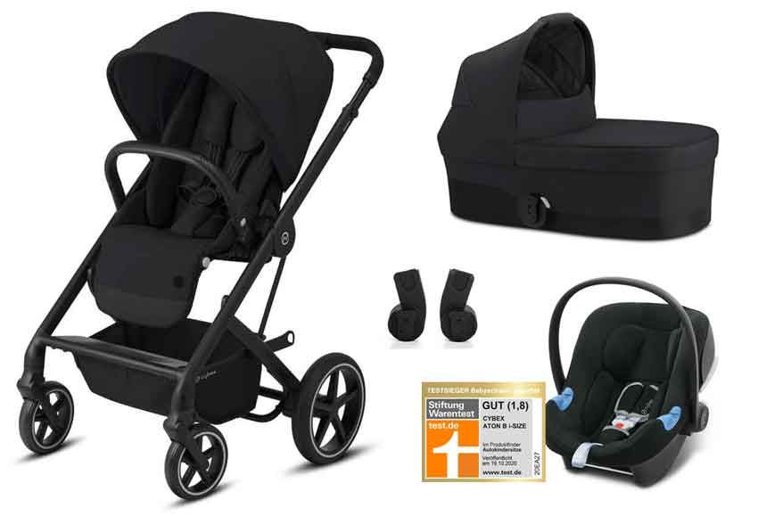 Cybex Καρότσι ΠΡΟΣΦΟΡΑ Balios S Lux + Cot S + Adapter + κάθισμα Αυτ/του Aton B I-Size Deep Black