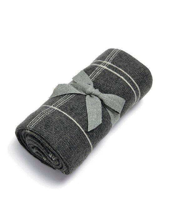 Mamas & Papas Κουβέρτα Πλεκτή 70*90 cm Grey Check