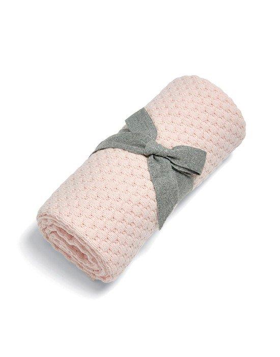 Mamas & Papas Κουβέρτα Πλεκτή 70*90 cm Pink