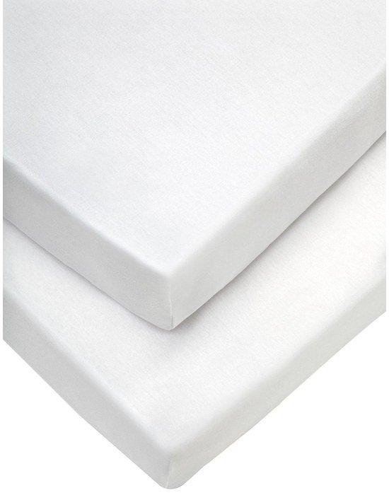 Mamas & Papas Σεντόνι Για Λίκνο Σετ 2 τεμαχίων 40cm*94cm Λευκό